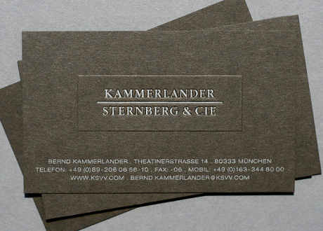 Kammerlander sternberg karlotta ariane busch kammerlander sternberg cie is a fund management company based in munich corporate identity logo design business cards colourmoves